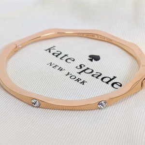 Kate Spade rose gold stone bangle